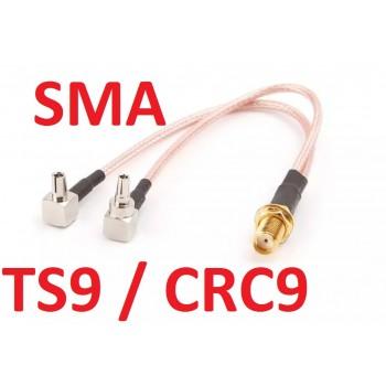 Пігтейл (Адаптер, перехідник) CRC9 / TS9 - SMA (female) - Універсальний