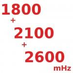 1800/2100/2600 (мГц) Трех-диапазонные Репитеры