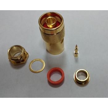 Роз'єм N-тип Male на кабель RG-8 GOLD