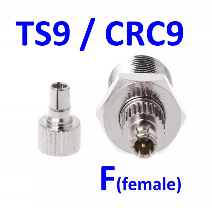 Переходник CRC9/TS9 - F (female)  -  универсальный адаптер для модема