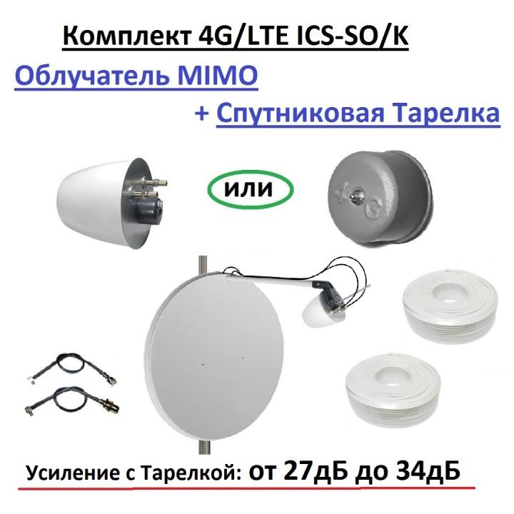 Комплект 4G/LTE ICS-SO/K - Облучатель MIMO со Спутниковой Тарелкой