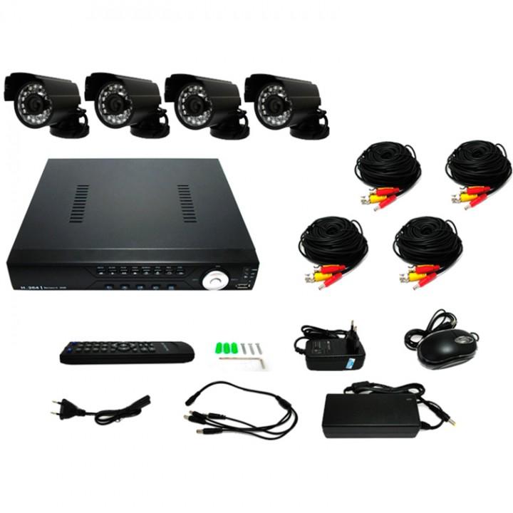 Комплект видеонаблюдения Tenex CCTV – 4Н