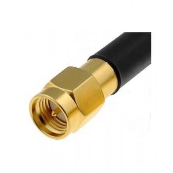 Роз'єм SMA-тато під кабель RG58 (діаметр кабелю до 5 мм.)
